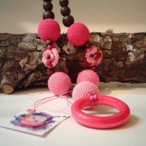 Collar lactancia rosado